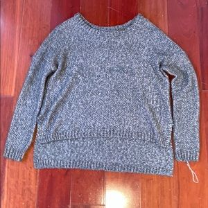 Women's grey/green sweater